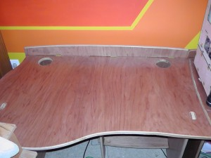 Stained desk