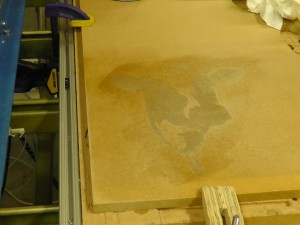 CNC Sign Project - Stained Fail