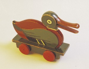 Lego wooden toy duck.